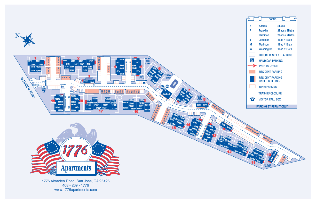 map of 1776 apartments
